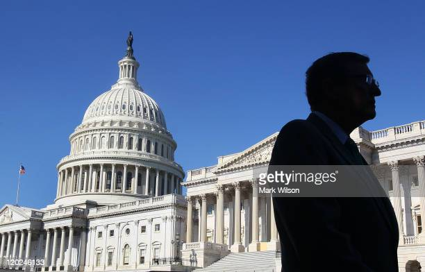 Senate Budget Committee Chairman Sen Kent Conrad stands outside of the US Capitol on August 2 2011 in Washington DC Yesterday the House of...