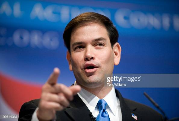 Senate Candidate Marco Rubio addresses the Conservative Political Action Conference held at the Marriott Wardman Park hotel Feb 18 2010