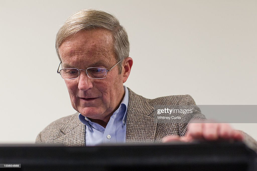 Senate candidate, Rep. Todd Akin (R-MO) votes electronically November 6, 2012 in Wildwood, Missouri. Akin, who made headlines with his controversial comments about aborttion, is running against incumbent Sen. Claire McCaskill (D-MO).