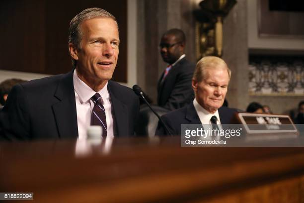 Senate Commerce Science and Transportation Committee Chairman John Thune and ranking member Sen Bill Nelson hold a hearing to receive testimony from...