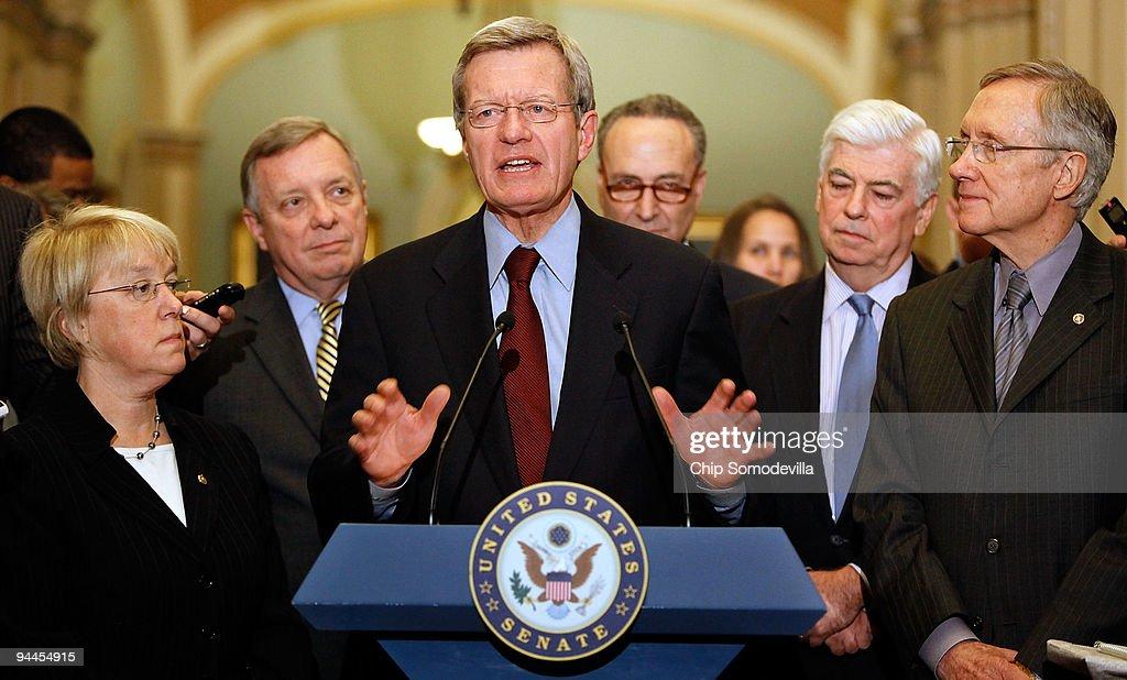 Senate Democratic Caucus Members Discuss Health Care Reform Bill