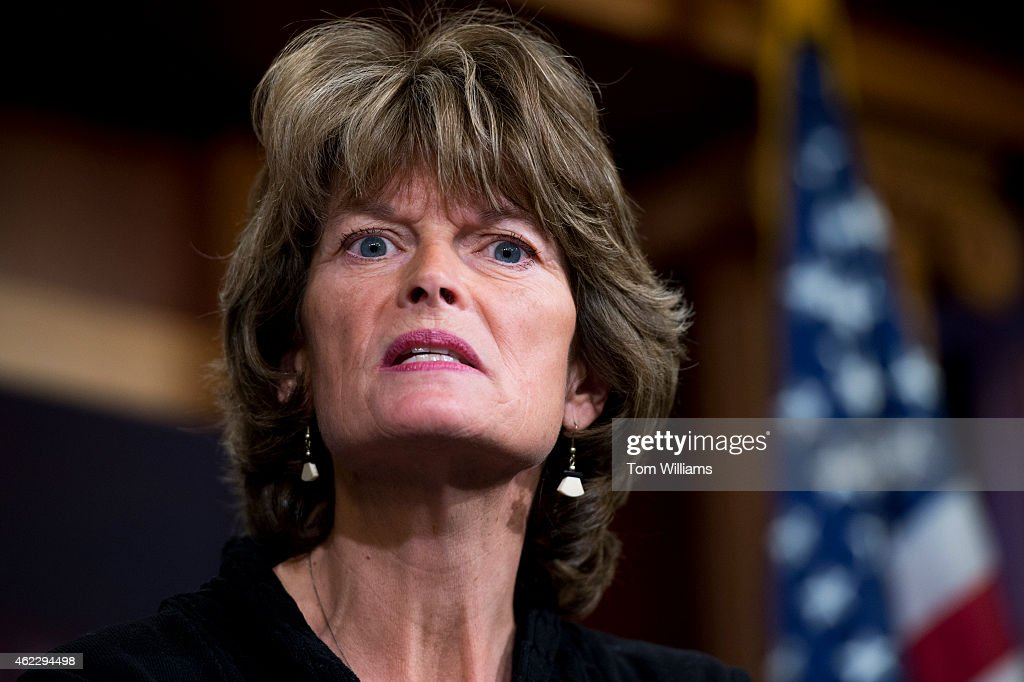 Senate Energy and Natural Resources Chairwoman Lisa Murkowski RAlaska conducts a news conference in the Capitol's Senate studio to 'respond to the...