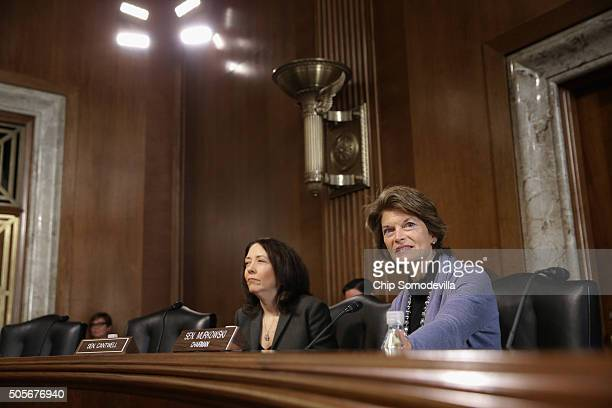 S Senate Energy and Natural Resources Committee Chair Lisa Murkowski and ranking member Sen Maria Cantwell hears testimony hear testimony from...