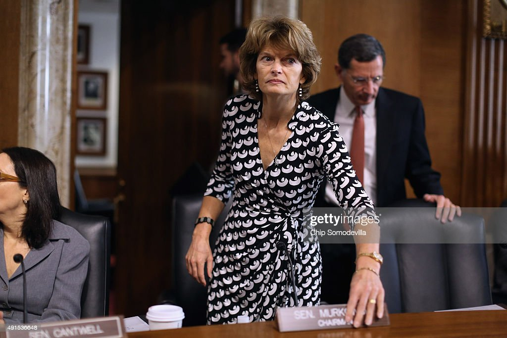 Senate Energy and Natural Resources Committee Chairman Lisa Murkowski arrives for a hearing about the potential modernization of the Strategic...