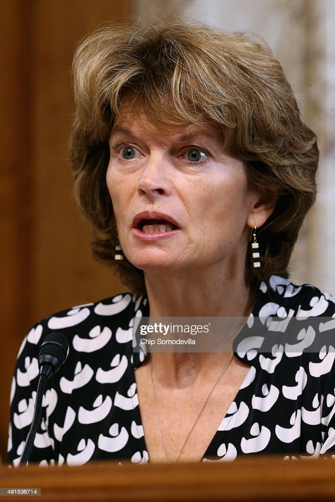 Senate Energy and Natural Resources Committee Chairman <a gi-track='captionPersonalityLinkClicked' href=/galleries/search?phrase=Lisa+Murkowski&family=editorial&specificpeople=3134392 ng-click='$event.stopPropagation()'>Lisa Murkowski</a> (R-AK) questions Energy Secretary Ernest Moniz during a hearing about the potential modernization of the Strategic Petroleum Reserve in the Dirksen Senate Office Building on Capitol Hill October 6, 2015 in Washington, DC. Created in the wake of the 1973 energy crisis, the reserve is supposed to make sure the U.S. economy will not be hurt by an embargo or sharp price spike and Moniz estimates that $2 billion will be needed for distribution work and other technical upgrades.