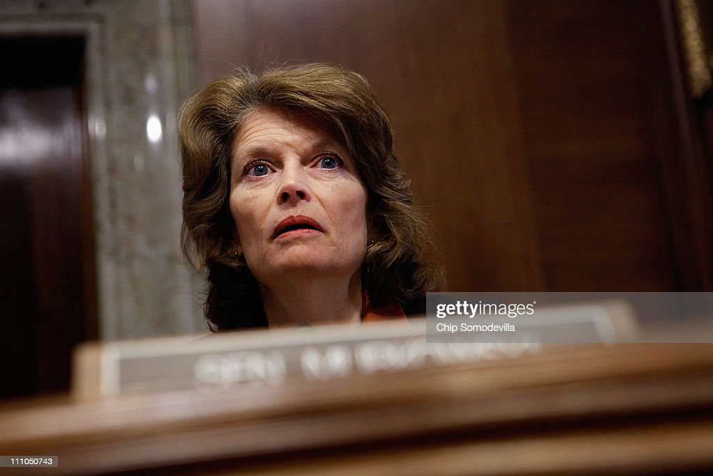 Senate Energy and Natural Resources Committee ranking member U.S. Sen. <a gi-track='captionPersonalityLinkClicked' href=/galleries/search?phrase=Lisa+Murkowski&family=editorial&specificpeople=3134392 ng-click='$event.stopPropagation()'>Lisa Murkowski</a> (R-AK) (R) questions witnesses during a hearing about the recent events at the Tokyo Electric Power Company's Fukushima Daiichi reactor complex March 29, 2011 in Washington, DC. The reactor was badly damaged in the March 11 earthquake and tsunami and Japanese officials are working to regain control of the disaster as problems continue cascade.