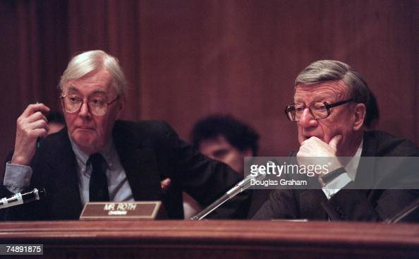 Senate Finance Committee and Daniel Patrick Moynihan during a hearing on legislation that would provide for the transfer of onehalf cent of the 43...