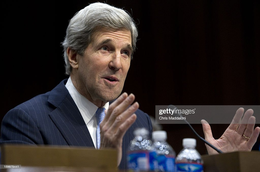 Senate Foreign Relations Chairman Sen. John Kerry, D-Mass., President Barack Obama's nominee to become secretary of state, testifies at his confirmation hearing before the Senate Foreign Relations committee to replace Hillary Rodham Clinton.