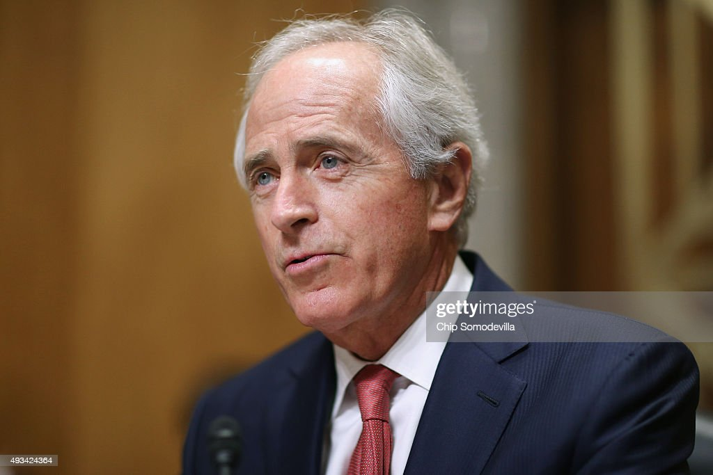 Senate Foreign Relations Committee Chairman <a gi-track='captionPersonalityLinkClicked' href=/galleries/search?phrase=Bob+Corker&family=editorial&specificpeople=3986296 ng-click='$event.stopPropagation()'>Bob Corker</a> (R-TN) delivers opening remarks at the start of a hearing titled, 'The Persistent North Korea Denuclearization and Human Rights Challenge,' in the Dirksen Senate Office Building on Capitol Hill October 20, 2015 in Washington, DC. The committee heard testimony from Special Envoy for North Korean Human Rights Issues Robert King and Deputy Assistant Secretary of State for Korea And Japan Sung Kim.