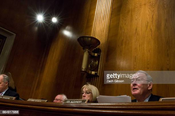 Senate Health Education Labor and Pensions Committee Chairman Sen Lamar Alexander speaks during a Committee hearing to examine the nomination of FDA...