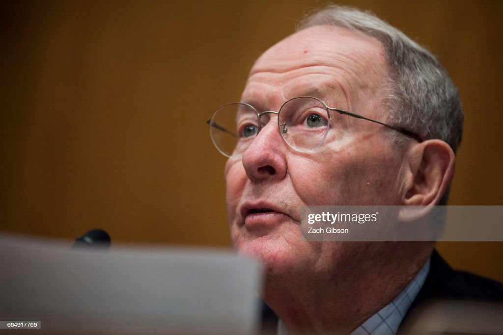 Senate Health, Education, Labor, and Pensions Committee Chairman Sen. Lamar Alexander (R-TN) speaks during a Committee hearing to examine the nomination of FDA Commissioner-designate Scott Gottlieb on April 5, 2017 at on Capitol Hill in Washington, D.C.