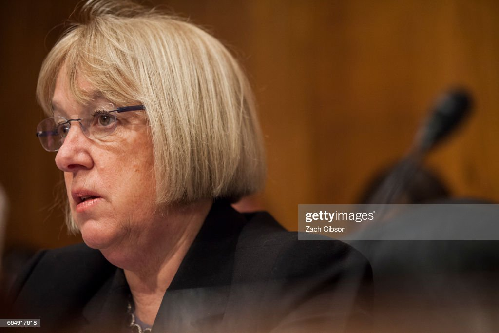 Senate Health, Education, Labor, and Pensions Committee Ranking Member Sen. Patty Murray (D-WA) speaks during a Committee hearing to examine the nomination of FDA Commissioner-designate Scott Gottlieb on April 5, 2017 at on Capitol Hill in Washington, D.C.
