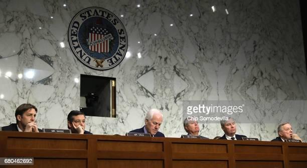 Senate Judicary Committee members Sen Ben Sasse Sen Ted Cruz Sen John Cornyn Chairman Lindsey Graham ranking member Sen Sheldon Whitehouse and Sen...