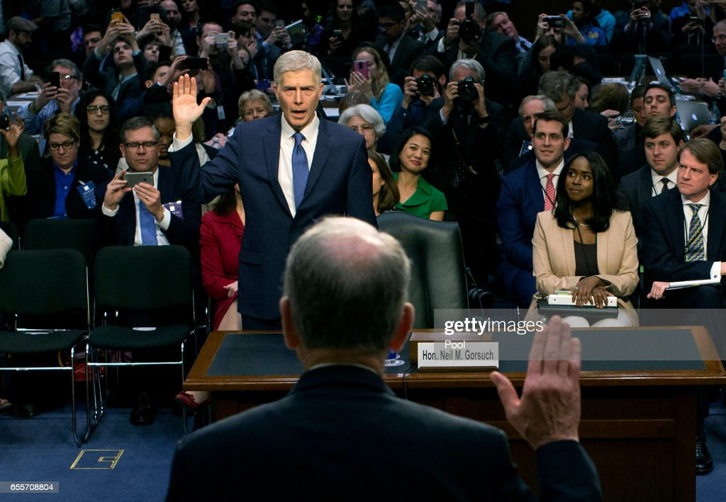 Senate Holds Confirmation Hearing For Supreme Court Nominee Neil Gorsuch