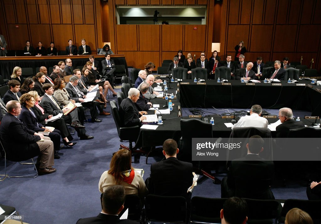 S Senate Judiciary Committee holds a mark up hearing on the nomination of Eric Holder to be the next US Attorney General on Capitol Hill January 28...