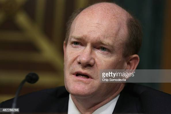 S Senate Judiciary Committee's Oversight Agency Action Federal Rights and Federal Courts Subcommittee ranking member Sen Chris Coons questions the...