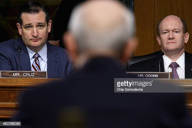 S Senate Judiciary Committee's Oversight Agency Action Federal Rights and Federal Courts Subcommittee Chairman Ted Cruz and ranking member Sen Chris...