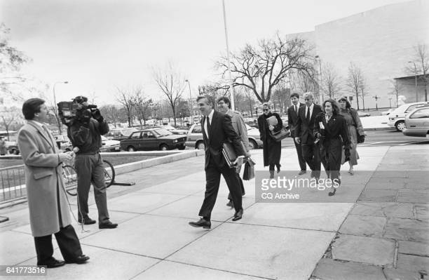 Senate Legal Counsel Michael Davidson Victor Baird Chief Counsel and staff arrive at US District Court to argue the immediate relinquishment by Bob...