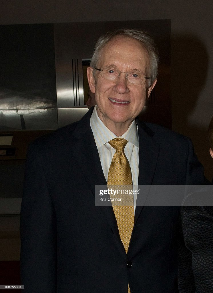 Senate Majority Leader Harry Reid (D-NV) walks the red carpet at Some Enchanted Evening: A Musical Birthday Salute to Senator Edward M. Kennedy at The Kennedy Center on March 8, 2009 in Washington, DC.