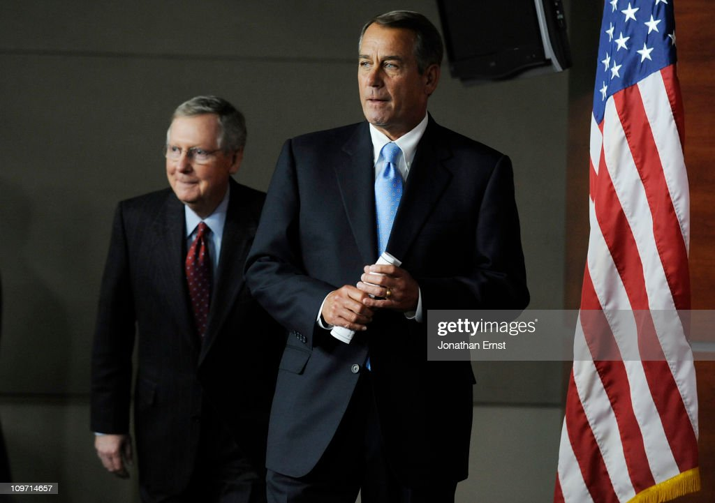 House Speaker Boehner And Sen. McConnell Speak On Spending Cuts And Job Creation