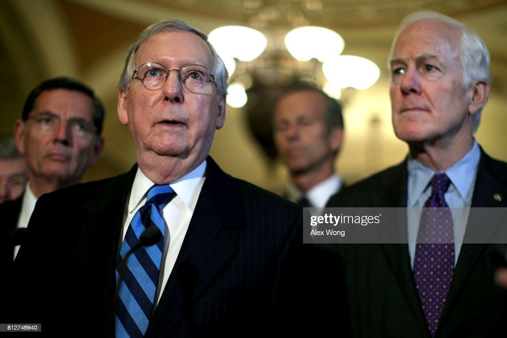 Image result for photos of sen mcConnell in senate