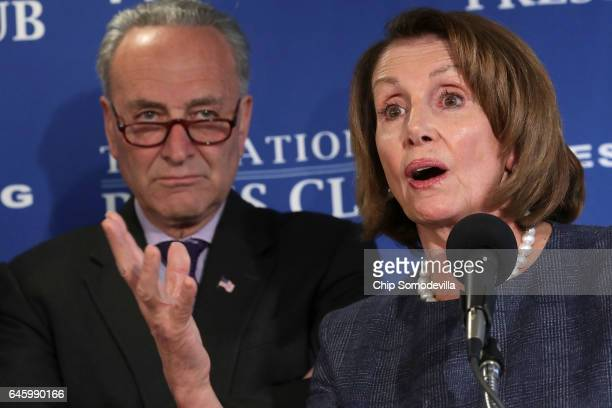 Senate Minority Leader Charles Schumer and House Minority Leader Nancy Pelosi deliver a 'prebuttal' to President Donald Trump's upcoming address to a...