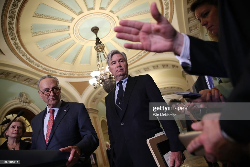 Senate GOP And Democrats Address Press After Weekly Policy Luncheons