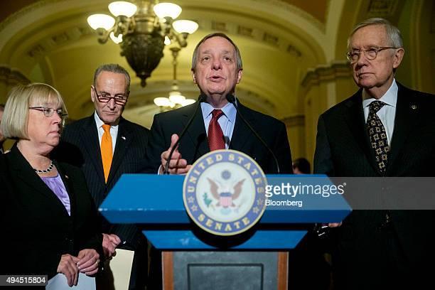 Senate Minority Leader Harry Reid a Democrat from Nevada from right Senator Dick Durbin a Democrat from Illinois Senator Charles Schumer a Democrat...