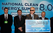 S Senate Minority Leader Harry Reid speaks during a news conference to announce a rooftop solar program between Valley Electrical Association and...