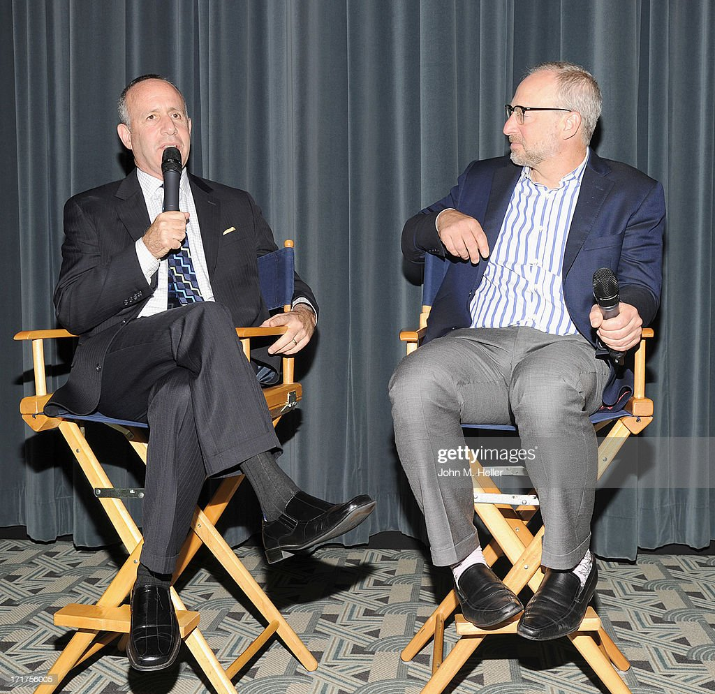 Senate President pro tem of the California senate Darrell Steinberg and Rick Jacobs Founder of the Courage Campaign attend the screening of 'Gods and Gays' a documentary by Lisa Ling at the Carey Grant Theatre at the Sony Pictures Studios on June 27, 2013 in Culver City, California.