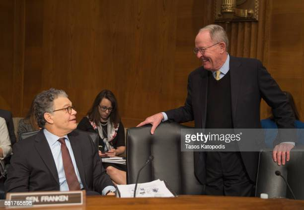 Senator Al Franken and Chairman Lamar Alexander attends full committee hearing on the nomination of Alex Michael Azar II to be Health and Human...