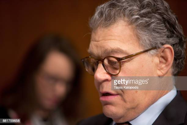 Senator Al Franken attends full committee hearing on the nomination of Alex Michael Azar II to be Health and Human Services Secretary on Capital Hill...