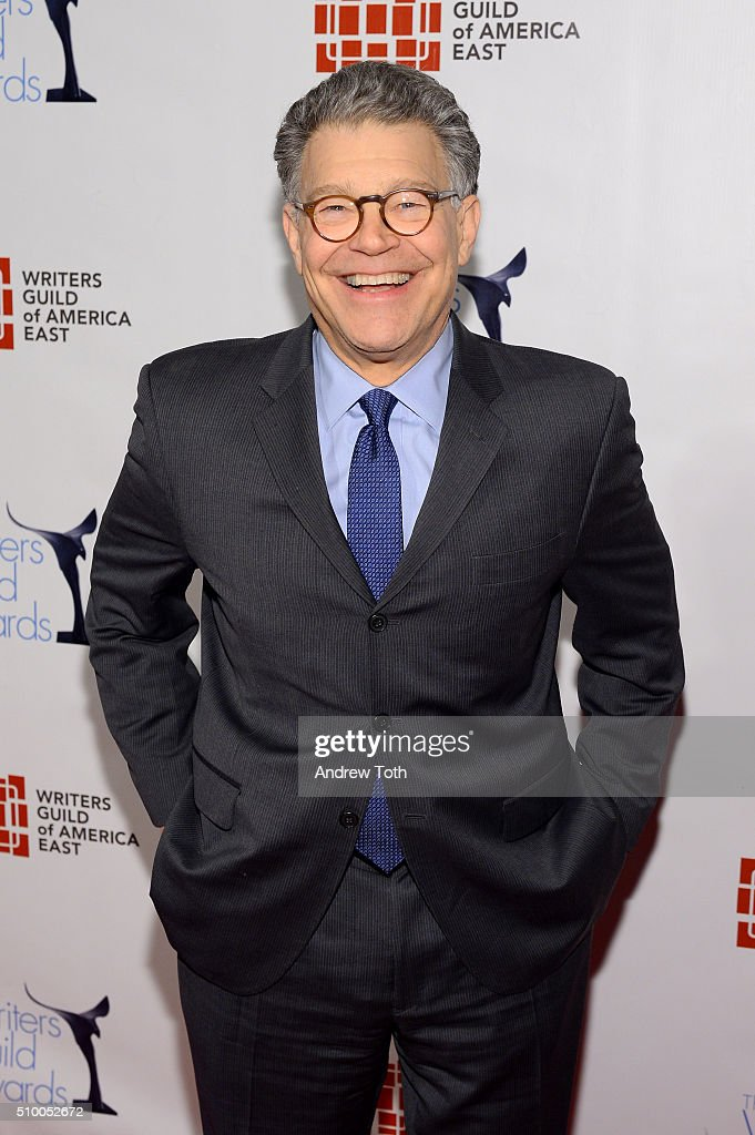 Senator <a gi-track='captionPersonalityLinkClicked' href=/galleries/search?phrase=Al+Franken&family=editorial&specificpeople=167079 ng-click='$event.stopPropagation()'>Al Franken</a> attends the 2016 Writers Guild Awards New York Ceremony at The Edison Ballroom on February 13, 2016 in New York City.
