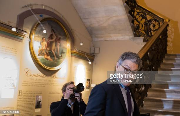 Senator Al Franken DMN arrives at the US Capitol on December 7 2017 in Washington DC Franken announced that he will be resigning in the coming weeks...