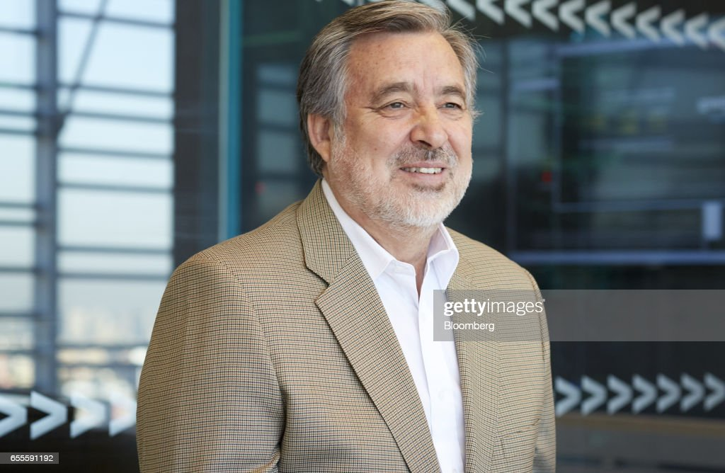 Senator Alejandro Guillier, presidential candidate for Chile, smiles during an interview in Santiago, Chile, on Thursday, March 16, 2017. Two months after JPMorgan said investors were shunning Chile because of Guillier's populist stance and his rise in the opinion polls, the candidate says the business community would have nothing to fear from his administration. Photographer: Cristobal Palma/Bloomberg via Getty Images