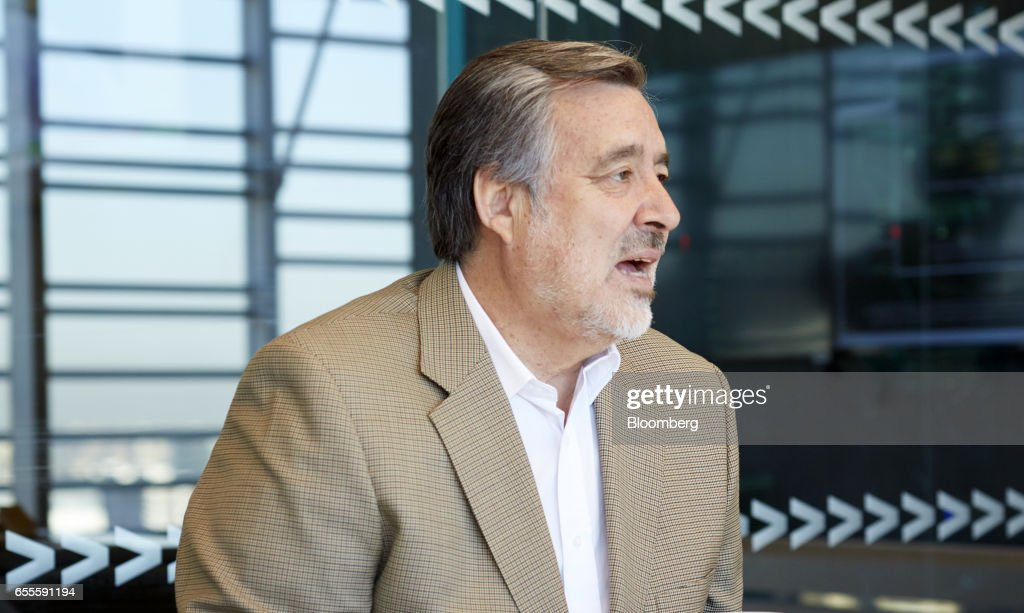 Senator Alejandro Guillier, presidential candidate for Chile, speaks during an interview in Santiago, Chile, on Thursday, March 16, 2017. Two months after JPMorgan said investors were shunning Chile because of Guillier's populist stance and his rise in the opinion polls, the candidate says the business community would have nothing to fear from his administration. Photographer: Cristobal Palma/Bloomberg via Getty Images