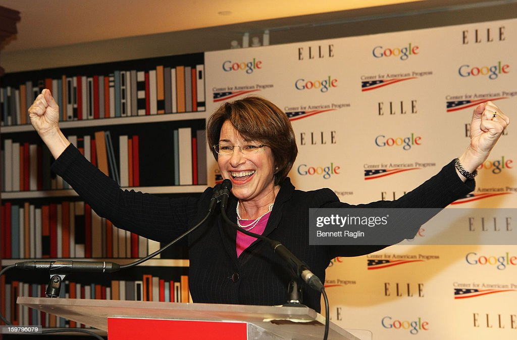 Senator Amy Klobuchar (D-MN) attends a celebration for leading women in Washington hosted by GOOGLE, ELLE, and The Center for American Progress on January 20, 2013 in Washington, United States.