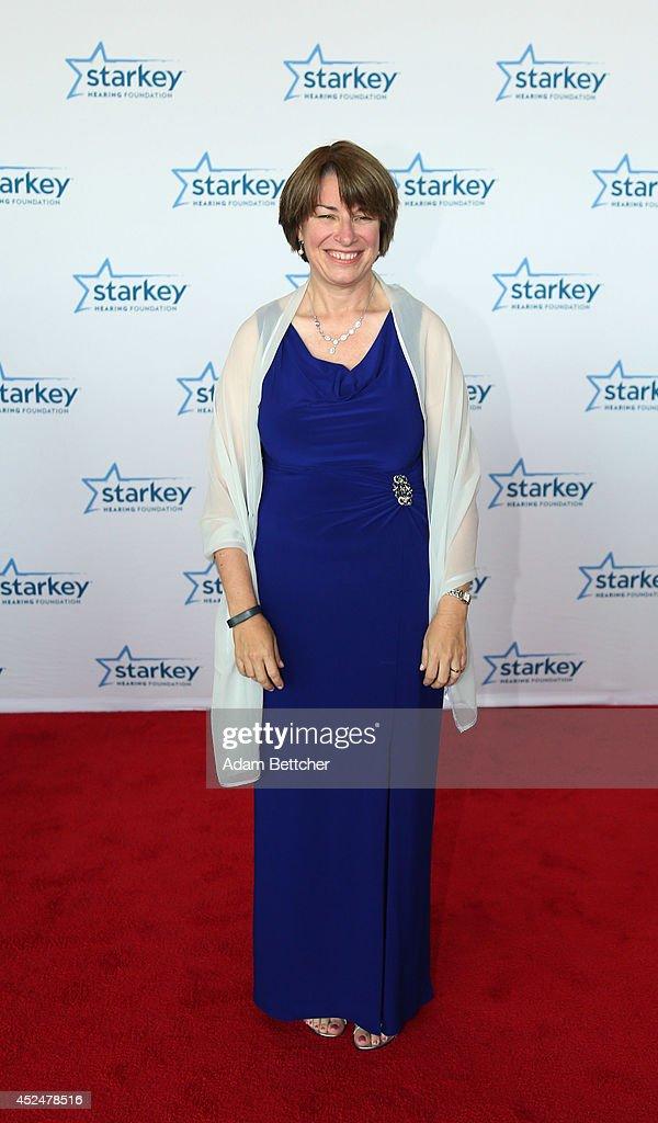 Senator Amy Klobuchar walks the red carpet at the 2014 Starkey Hearing Foundation So The World May Hear Gala at the St. Paul RiverCentre on July 20, 2014 in St. Paul, Minnesota.
