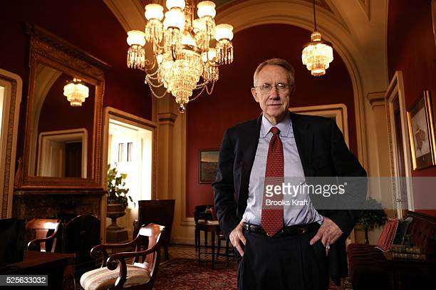 Senator and Democratic Minority Leader Harry Reid DNevada in his Capitol Hill office on November 10 2004