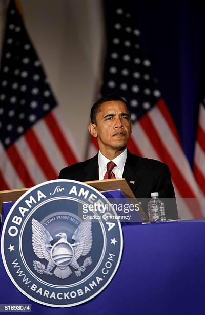 Senator and presumptive Democratic Presidential nominee Barack Obama attends a meeting of Democratic Governors June 202008 at the Chicago History...