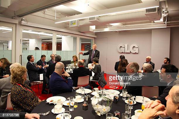 Senator Angus King visits GLG on March 4 2016 in New York City Photo by Donald Bowers/Getty Images for GLG