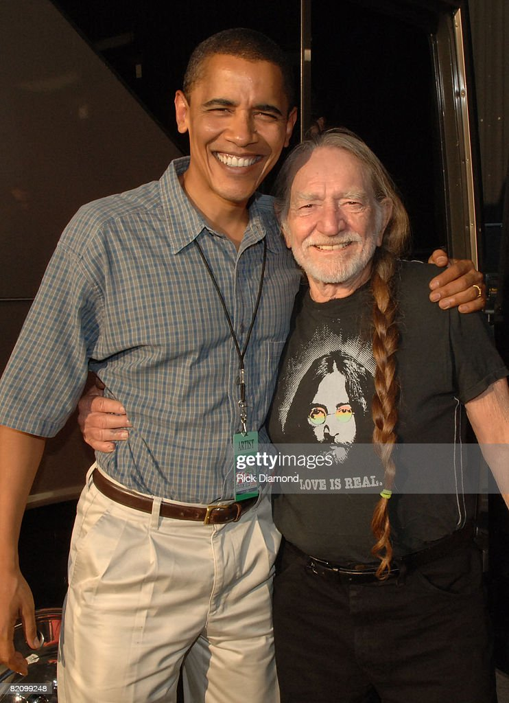 Senator Barack Obama and Willie Nelson