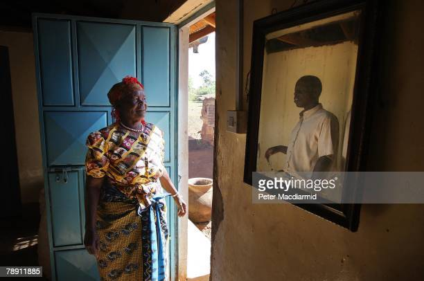 Senator Barack Obama's stepgrandmother Sarah Obama is pictured with her son Said Obama in her house on January 12 2008 in Kogelo western Kenya Barack...