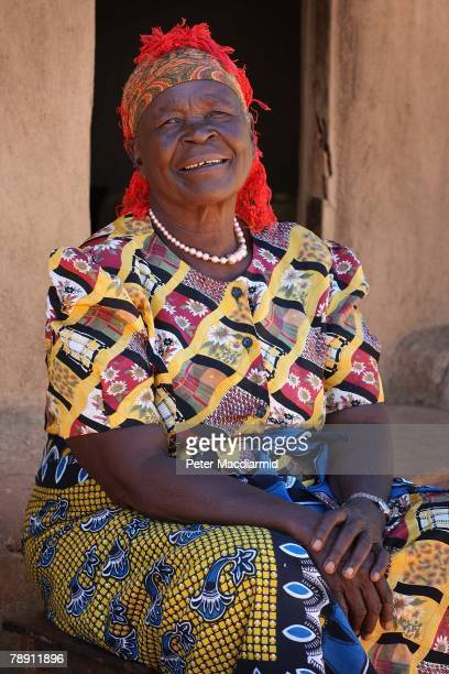 Senator Barack Obama's stepgrandmother Sarah Obama sits outside her house on January 12 2008 in Kogelo western Kenya Barack Hussein Obama father of...