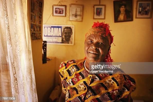 Senator Barack Obama's stepgrandmother Sarah Obama stands in her house on January 12 2008 in Kogelo western Kenya Barack Hussein Obama father of US...
