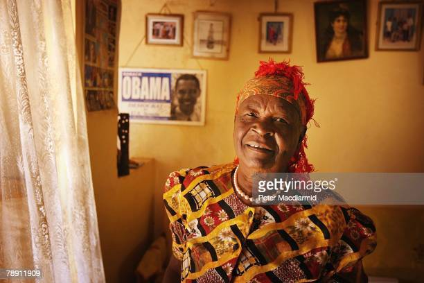 Senator Barack Obama's stepgrandmother Sarah Obama stands in her house on January 12 2008 in Kogelo western Kenya Barack Hussein Obama father of US...