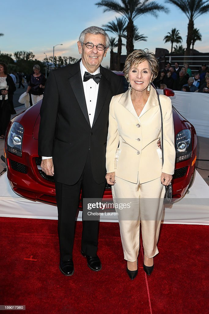 Senator Barbara Boxer (R) arrives in style with Mercedes-Benz at the Palm Springs International Film Festival at the Palm Springs Convention Center on January 5, 2013 in Palm Springs, California.