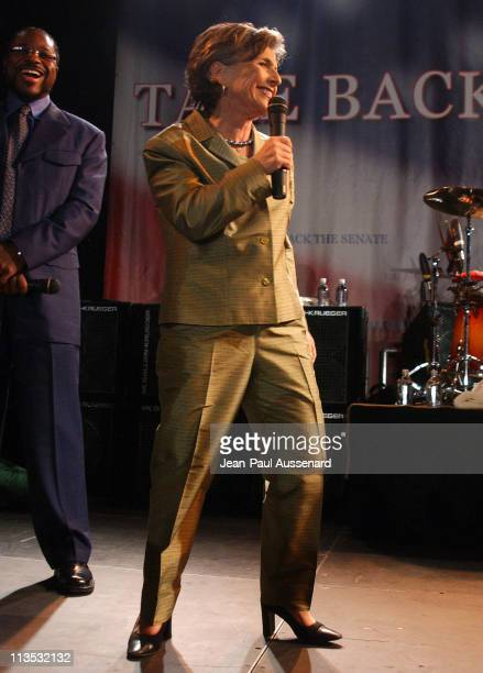 Senator Barbara Boxer during 'Democracy for the Senate' Rally and Red Hot Chili Peppers Concert in Santa Monica CA at Bergamot Station in Santa...