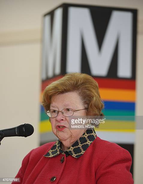 Senator Barbara Mikulski DMD speaks during an event to announce legislaltive reforms to help combat cell phone theft in the metro system on February...