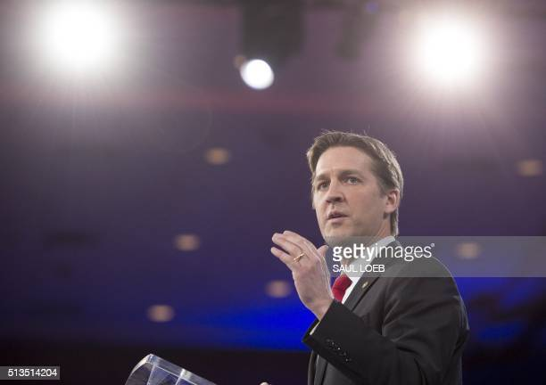 US Senator Ben Sasse Republican of Nebraska speaks during the annual Conservative Political Action Conference 2016 at National Harbor in Oxon Hill...